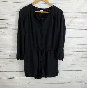 Gap Romper Black Long Sleeve M